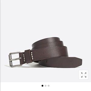 Men's J Crew Brown leather roller belt